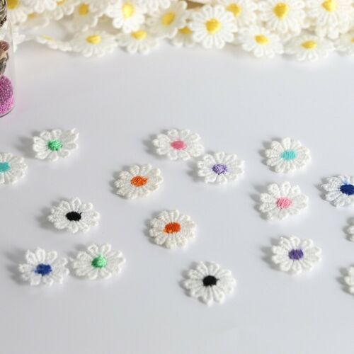 15 Yards Daisy Flowers trim satin lace ribbon Crafts scrapbook wedding sewing
