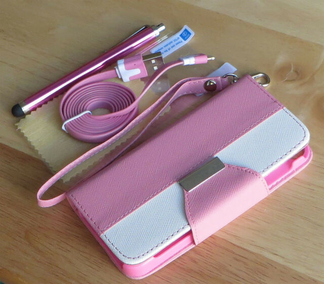 PU Leather Flip Pouch Wallet Stand Case Cover For SAMSUNG GALAXY S4 i9500 - Pink