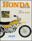 Honda XR75 Shop Manual 1973-1974-1975-1976 XR 75 Motorcycle Repair Service Book