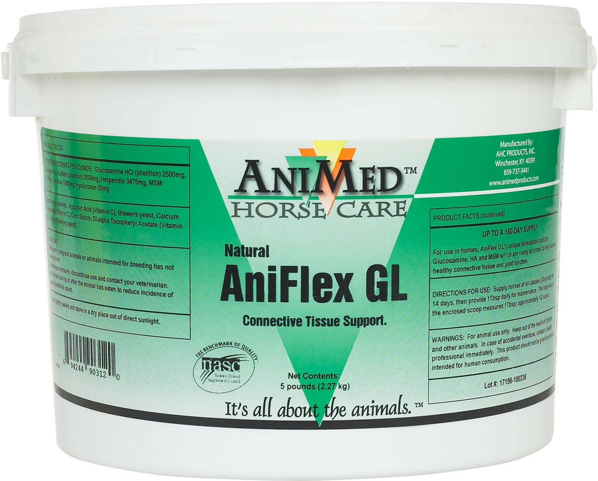 AniFlex GL Glucosamine MSM Vitamin C & E Supplement Horse Tissue Support 5 Pound
