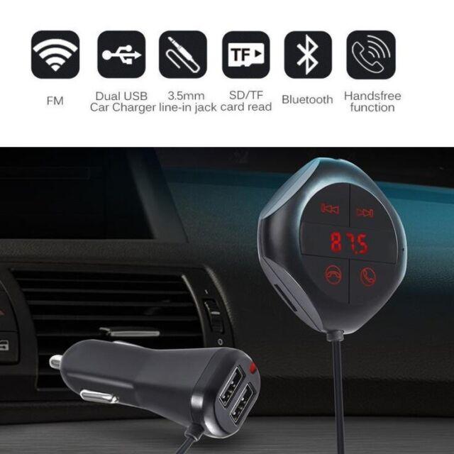 LCD SD FM Transmitter MP3 Player Magnet Handsfree Wireless Bluetooth USB Car Kit