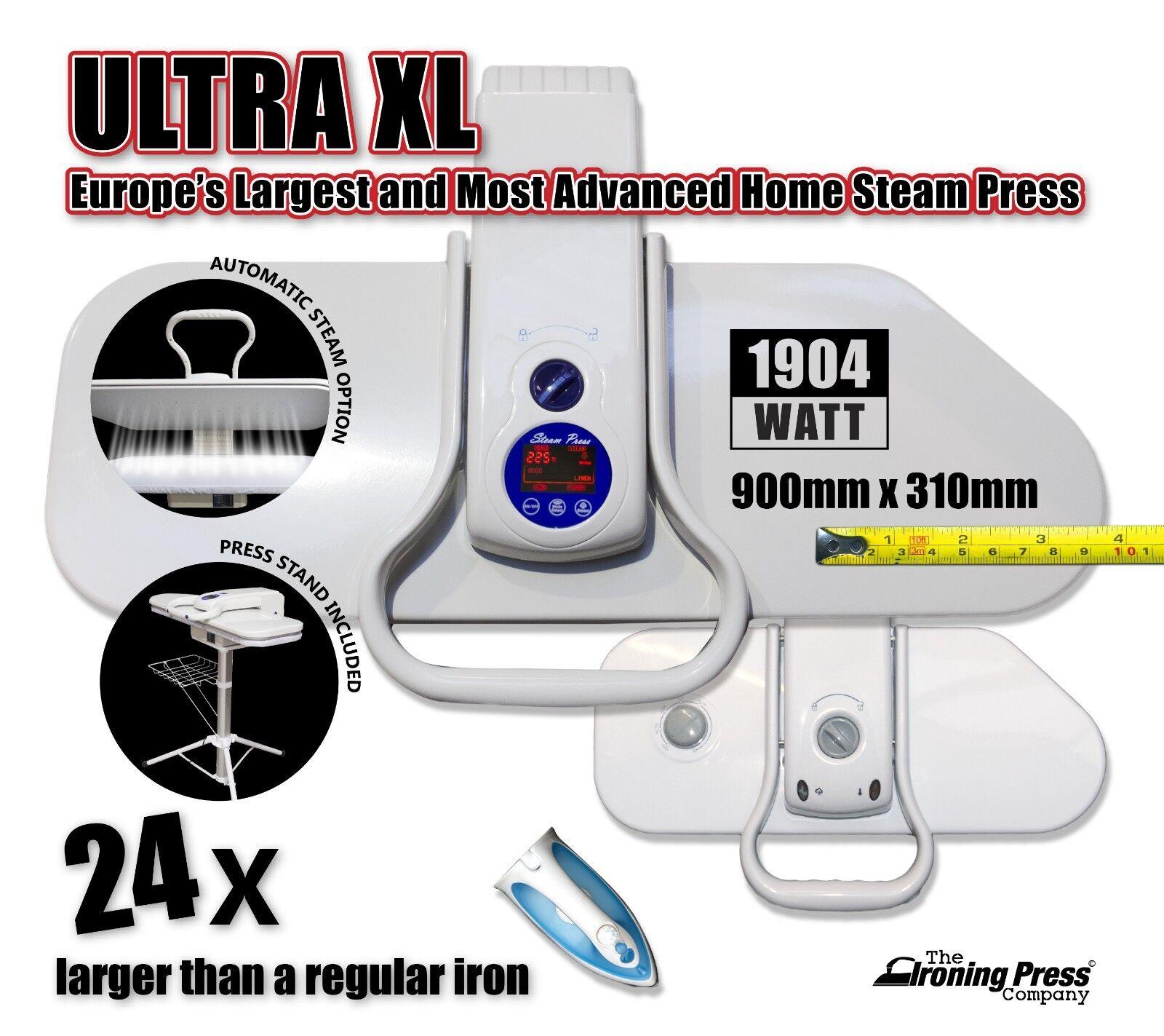 Ultra XL Fer à Vapeur Presse (90 cm; 2,200 W) Europe's Largest & la plus avancée de presse