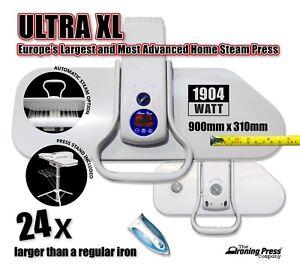 Ultra XL Fer À Vapeur Presse Europe/'s Largest /& la plus avancée de presse! 90 cm; 2,200 W