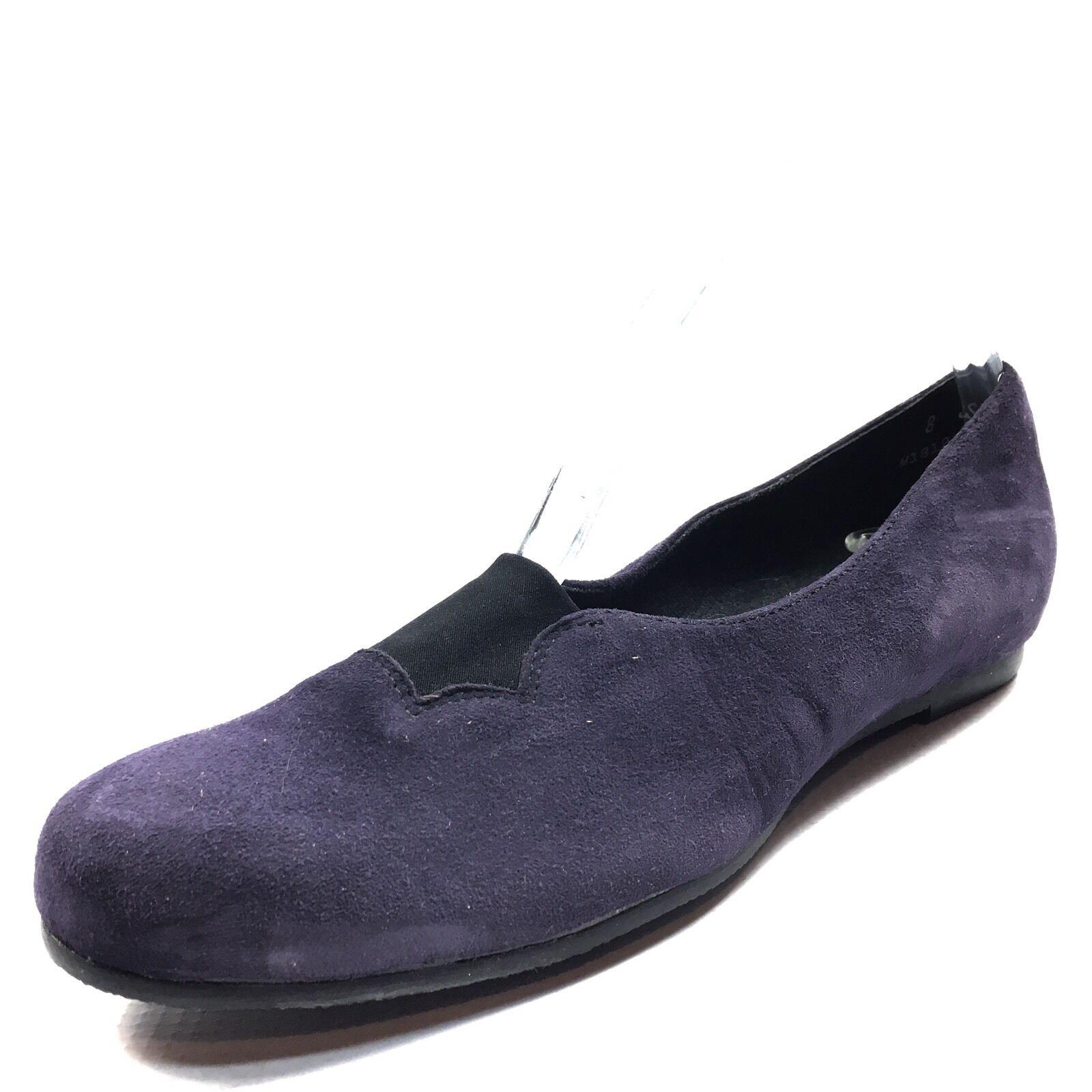 New Munro Women's Purple Suede Luna Flats Ballet Flats Luna Size 8 SS* 6a4983