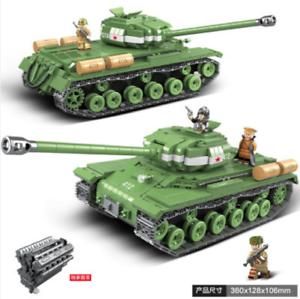 Stalin-2M Panzer Zweiter Weltkrieg Militär Serie Bausteine 10668PCS QG-100062