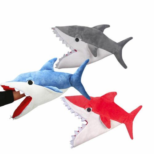 Unisex Shark Funny Hat Bite Roleplay Soft Plush Hat Cosplay Cap Halloween Gift