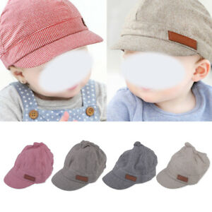 38d842edca2 Cute Toddler Kids Infant Sun Cap Baby Girls Boys Beach Cotton Beret ...
