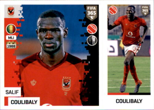 Salif Coulibaly Panini FIFA365 2019 Sticker 358 a//b Al Ahly SC