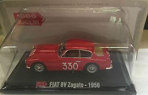 DIE-CAST-1000-MIGLIA-034-FIAT-8V-ZAGATO-1956-034-BOX-2-SCALA-1-43