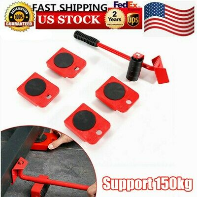 New Heavy Furniture Moving System Lifter Tool 4 Slide Glider Pad Wheel Easy Move Ebay