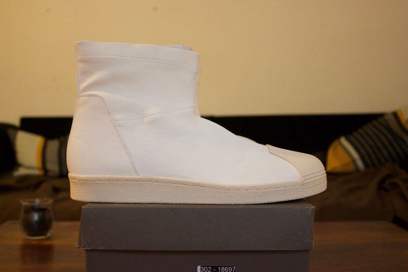 Adidas x Rick Owens Ankle Boot Superstar Bone/White US 10.5 / EUR 44.5