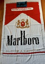 Vintage (1970?s?) Marlboro Pack Beach Towel - Approx 33?X56? Terry Cloth