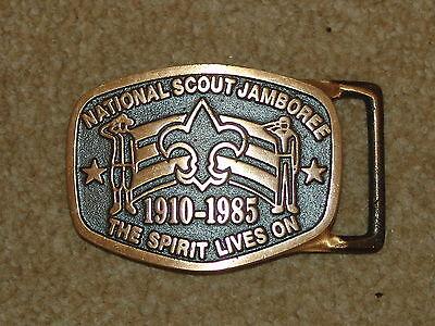 Max Silber belt buckle -  1985 national jamboree