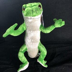 "Plush Gecko Lizard Reptile Nanco Jumbo XL 32"" X 16"" Long Green Orange Blue"