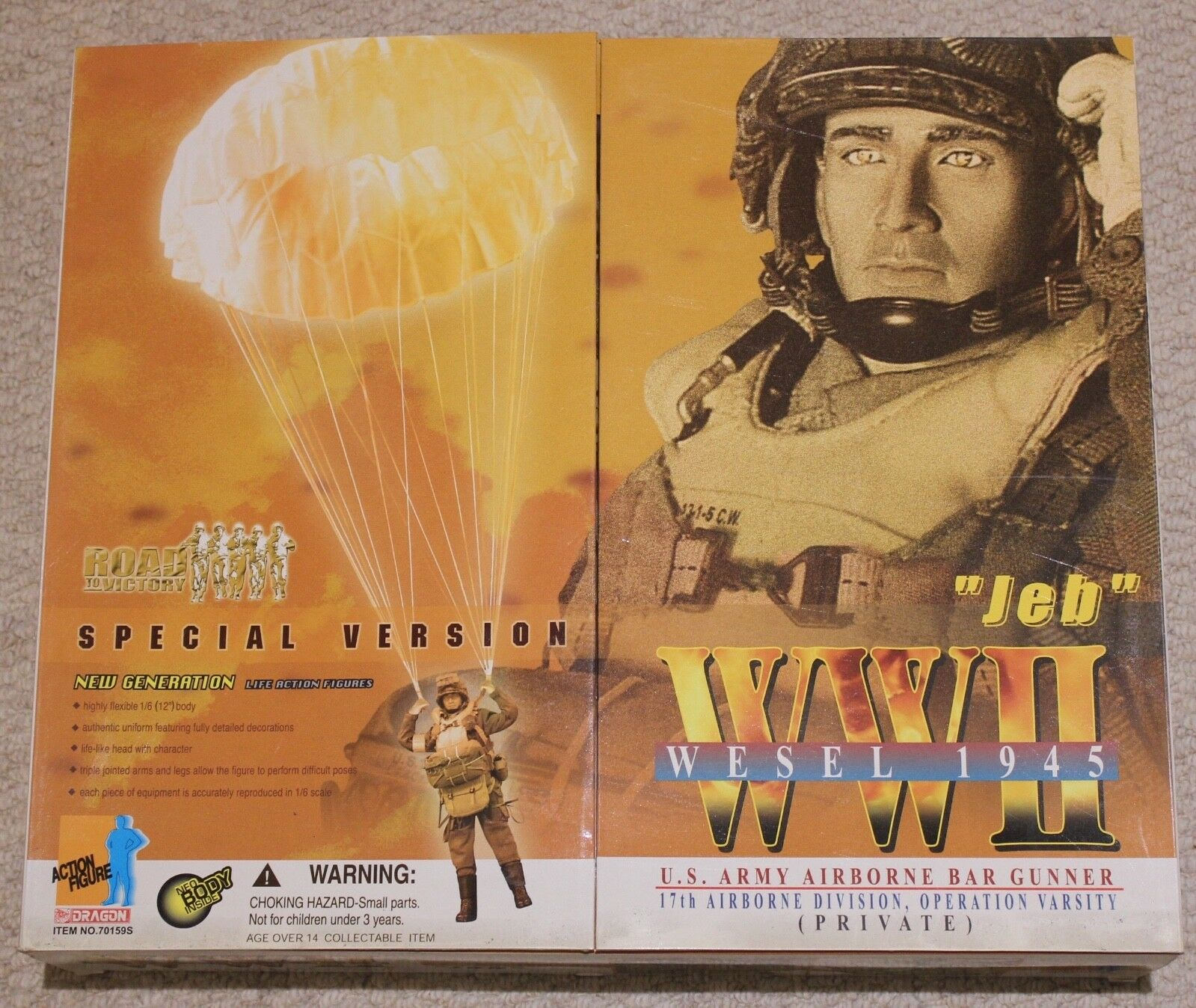 Dragon action figure ww11 us airborne 1 6 12'' boxed 70159 did cyber hobby  toy