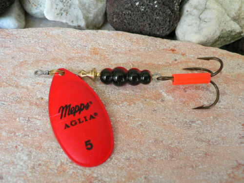 Détraqué MEPPS AGLIA FLUO rouge tous indiquées spinnfischen pêcher