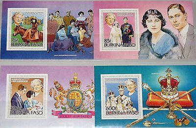 Briefmarken Burkina Faso 1985 Block 96-99 Queen Mother 85th Birthday Royal Family Mnh Erfrischend Und Wohltuend FüR Die Augen Burkina Faso