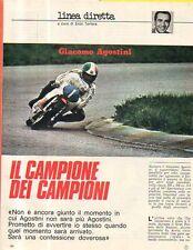 MA106-Clipping-Ritaglio 1975 Giacomo Agostini motociclismo