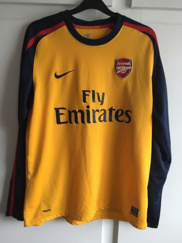 L 200809 Arsenal Away LS Football Shirt