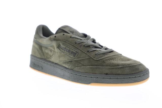 Reebok Club C 85 Tg BD4759 Mens Green Suede Casual Low Top Sneakers Shoes