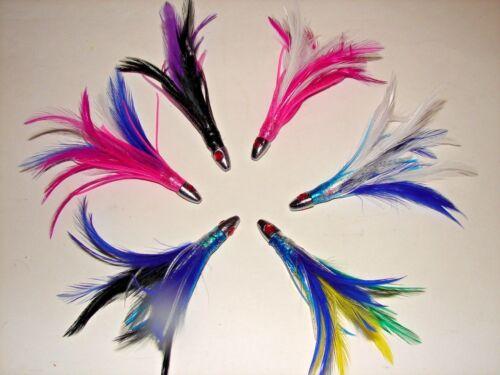 5 Red Eye Tuna Feather Mahi,Dolphin,Wahoo Trolling Big Game Bait FISHING LURE