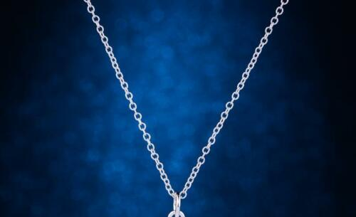 """925 STERLING silver 18/"""" chain necklace DOG BOWL PET  DAINTY women mom free box"""