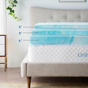 Linenspa-2-3-4-inch-Soft-Plush-Swirl-Gel-Memory-Foam-Topper-Full-Queen-King