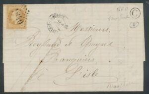 Lettre-1868-N-28A-10c-bistre-GC-1840-CAD-L-039-Isle-s-la-Sorgue-Boite-Rurale-P636
