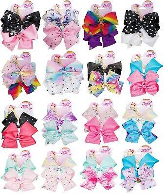 Pastel//Rainbow JoJo Siwa Bow Set Birthday Girl Fancy Dress Hair Accessories
