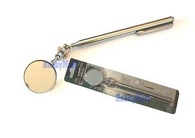 "Extendable Stick with Small Round Mirror 11/"" to 37/"" 5 Pack Telescoping Inspection Mirror"