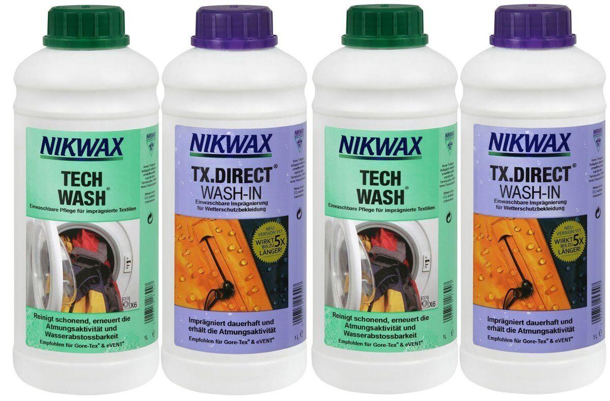 4x 1 Liter Nikwax Tech Wash + TX Direct Goretex- etc Waschmittel & Imprägnierung