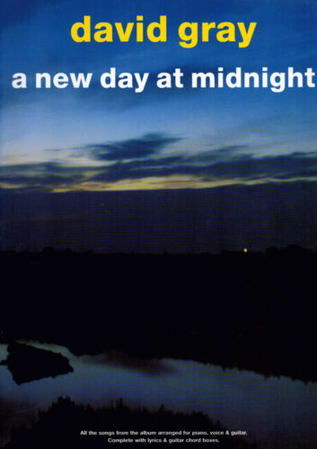 1 of 1 - DAVID GRAY A NEW DAY AT MIDNIGHT Piano Vocal Guitar Music Book PVG Shop Soiled