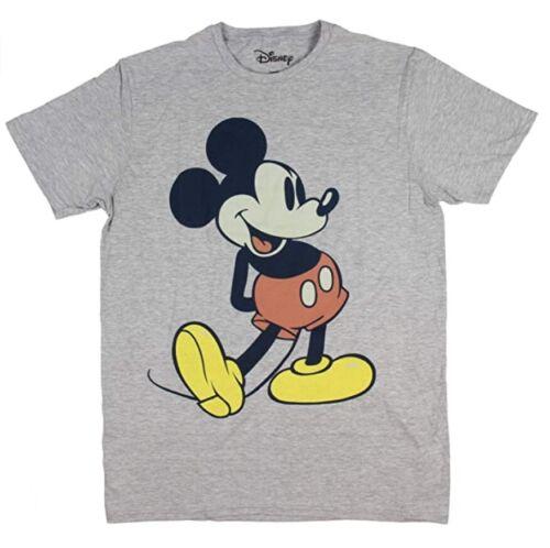 New Mens Disney Brand Gray MICKEY MOUSE Short Sleeve T-shirt Size Medium