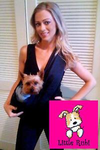 New-LittleRubi-Dog-cat-sling-carrier-KIDS-ADULT-XS-4XL-black-purse-tote-bag