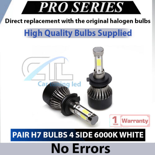 Mercedes ML W164 High Beam 2x H7 Led Headlight 110W Bulbs 6000K White 11000LM