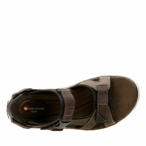 Clarks Men/'s Un Trek Bar Olive Nubuck Sandals 26132629