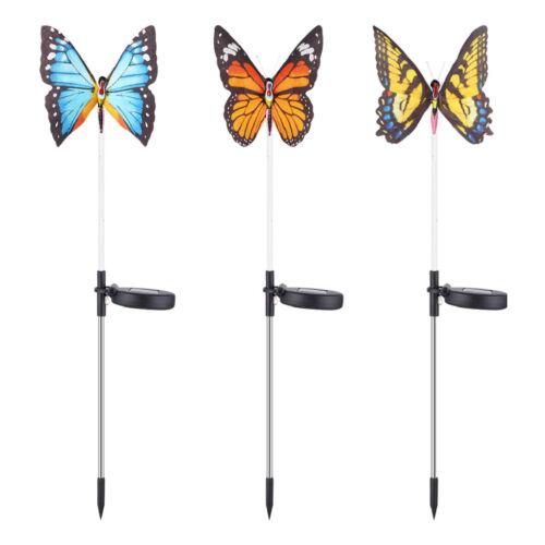 3Stk Tanzender Solar Schmetterling Vogel Kolibri Solarleuchten  Balkon Dekor