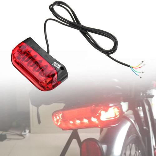 36V Night Tail Light Led E-bike Easy Install Universal Small Turn Signal Durable