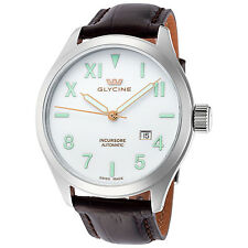 Glycine Men's 3922.11LP-LBK7F Incursore III Automatic 44mm White Dial Watch