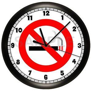 no smoking sign wall clock restaurant business smoke hospital doctors office ebay. Black Bedroom Furniture Sets. Home Design Ideas