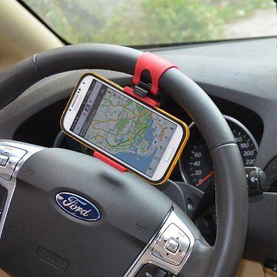 New Steering Wheel Car Phone Holder Bracket Bike Mount for Mobile Cell Phone GPS