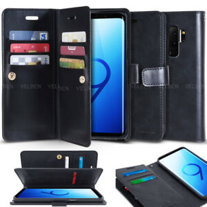 Heavy-Duty-Dual-Slot-Flip-leather-wallet-leather-Case-for-Galaxy-Note-9-8-5-4-3
