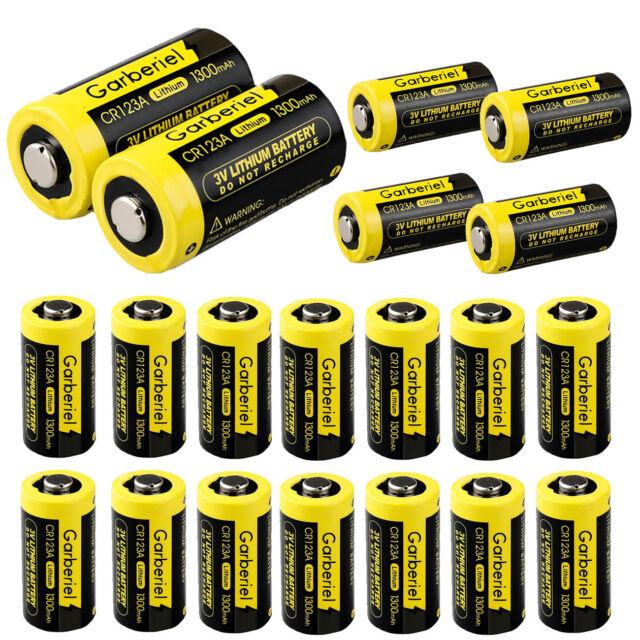 Strålande 12pcs Garberiel 3v Lithium Battery Cr123a Batteries for Camera TM-51