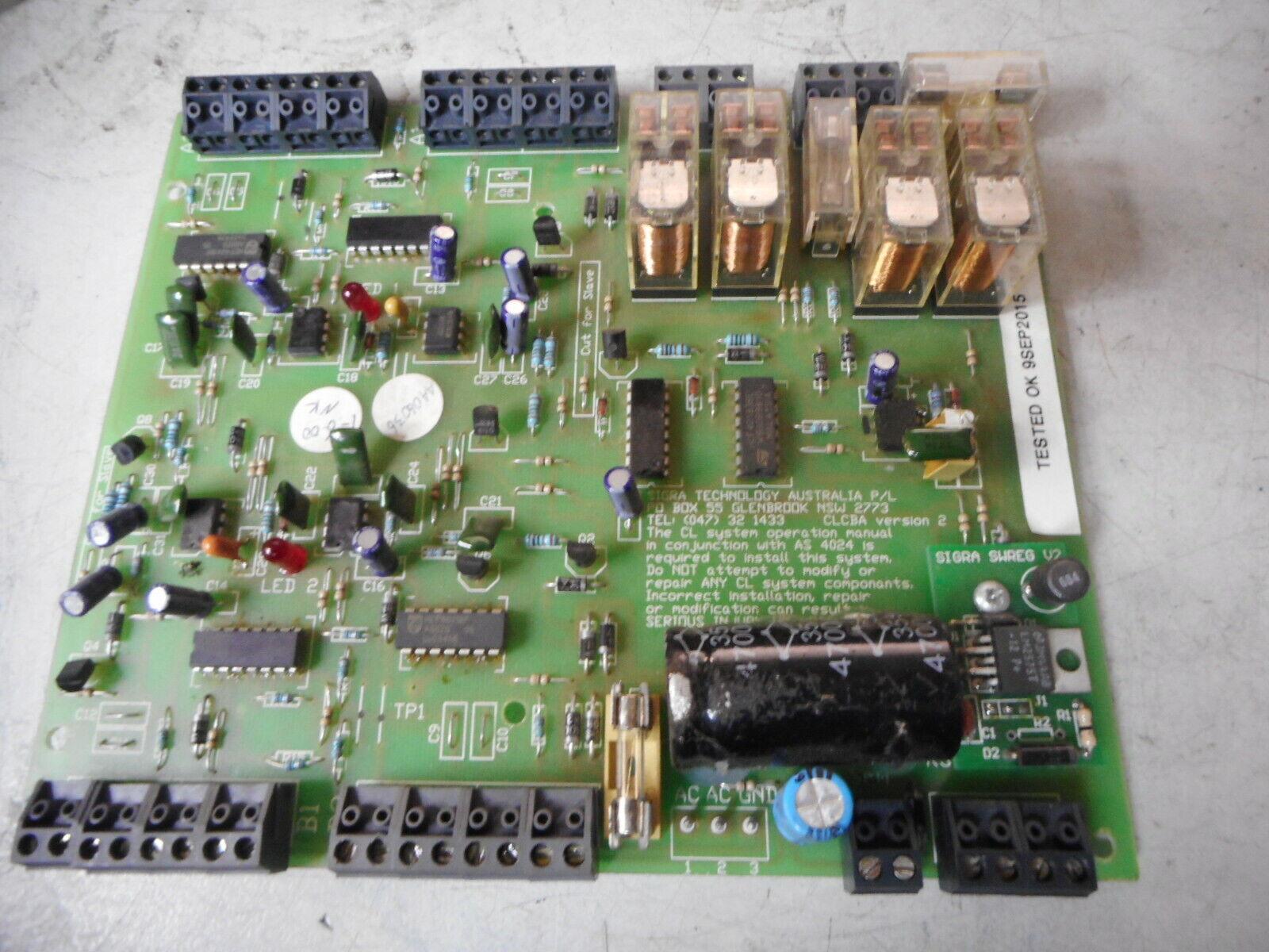 SIGRA OPTRONIC CLA LIGHT CURTAIN CONTROL BOARD -- CBA 77 240