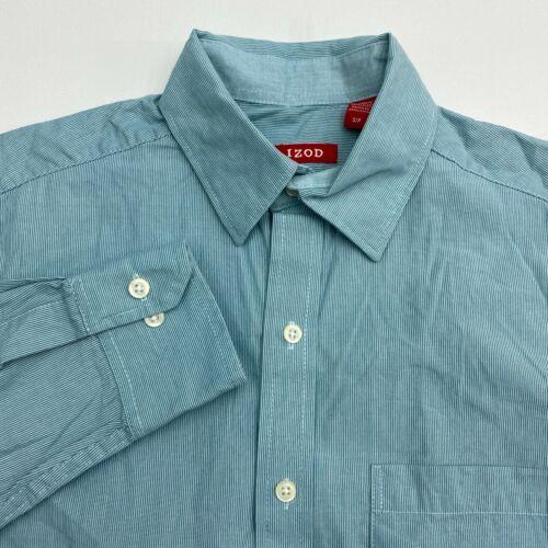 Izod Button Up Shirt Men's Small Long Sleeve Green