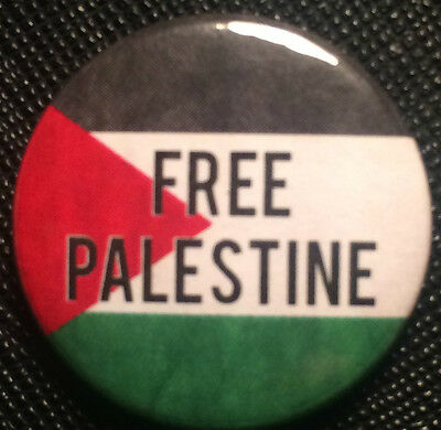 """Novelty Cute Protest FIST 25mm 1/"""" Button Badge FREE PALESTINE"""