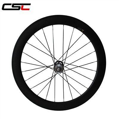 CSC 24mm Clincher fixed gear carbon wheels carbon flip flop track wheelset
