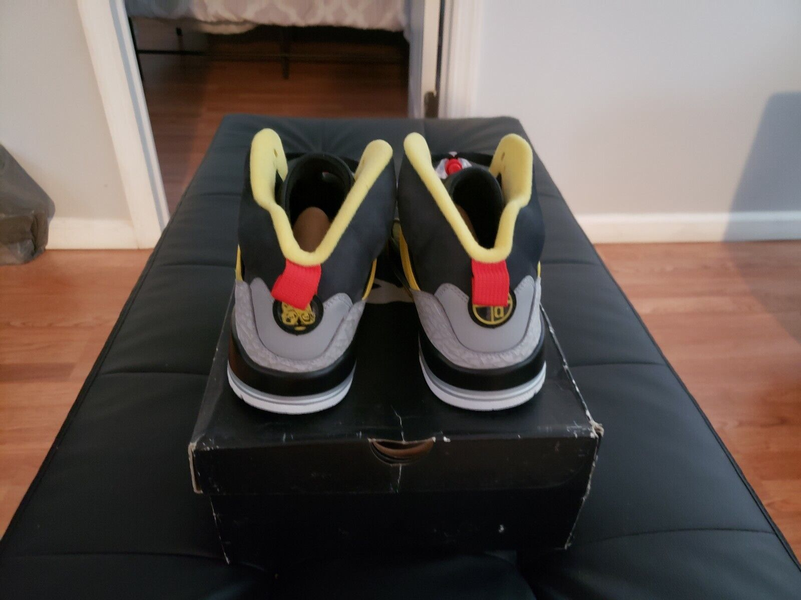 Jordan Spizike - nero oro oro oro - spike Lee version with glow in the dark Uomo 10.5 311f17