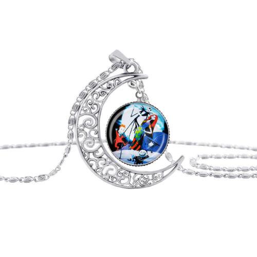 Elegant Merry Christmas The Moon Gemstone Night Gem Necklace Jewelry Gift N7