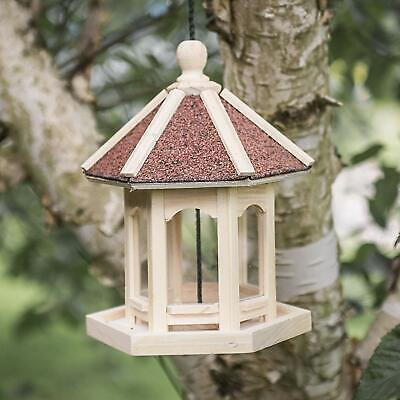 Natural Wood Hanging Gazebo Style Bird